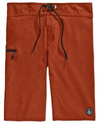 Volcom | Red Static Mod Board Shorts for Men | Lyst