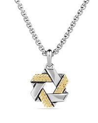 David Yurman | Metallic Modern Chevron Star Of David with Gold for Men | Lyst