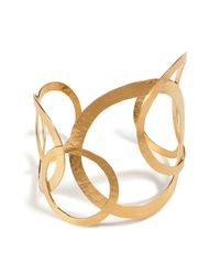 Herve Van Der Straeten - Metallic Hervé Van Der Straeten Hammered Gold-plated Hoops Bracelet - Lyst