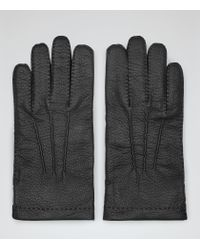 Reiss - Black Cantebury Dents Cashmere Lined Gloves for Men - Lyst