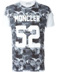 Moncler | White Digital Print T-shirt for Men | Lyst