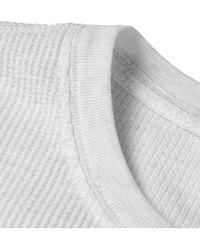 Club Monaco White Waffle-Knit Cotton-Blend Henley T-Shirt for men