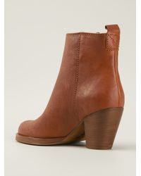 Acne Studios - Brown 'Pistol' Ankle Boots - Lyst