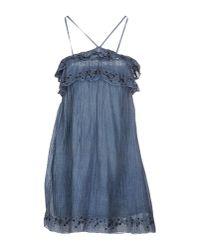 Miss Sixty   Blue Short Dress   Lyst
