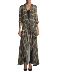 Haute Hippie - Brown The Big Heat Long Trench - Lyst