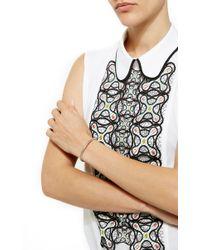 Joelle Jewellery | Metallic Narrow Lace Bangle | Lyst
