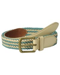 Scotch & Soda - Natural Multicolor Leather Braided Belt - Lyst