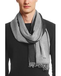 BOSS Black Scarf 'puntolo' In A Viscose Blend for men