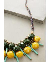 Anthropologie - Yellow Alondra Bib Necklace - Lyst