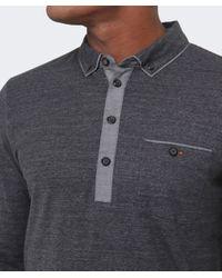 BOSS Orange | Black Patcherman Long Sleeved Polo Shirt for Men | Lyst