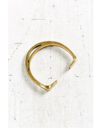 Giles & Brother - Metallic Stirrup Brass Cuff Bracelet - Lyst