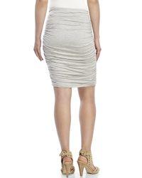 Max Studio - Gray Striped Jersey Skirt - Lyst