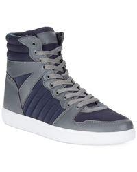 Sean John Blue Murano Hi-Top Sneakers for men