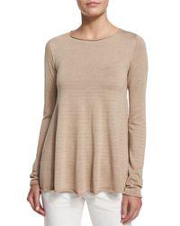 The Row - Brown Abelle Knit Swing-hem Sweater - Lyst