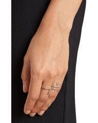 Ileana Makri - White Diamond & White-Gold Ring - Lyst