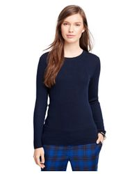 Brooks Brothers - Blue Merino Wool Ribbed Crewneck Sweater - Lyst