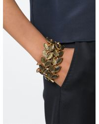 Oscar De La Renta Vintage Metallic Laurel Leaf Bracelet