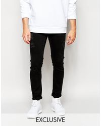 Cheap Monday | Gray Tight Distressed Skinny Jeans for Men | Lyst