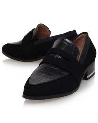 Kurt Geiger Black Duke Block Heeled Loafers for men