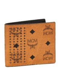 MCM Brown Neo Stark Studded Wallet
