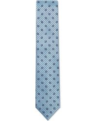 Ermenegildo Zegna Blue Slanted Squares Silk Tie for men