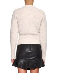 Isabel Marant White Charley Lace-up Wool-blend Sweater