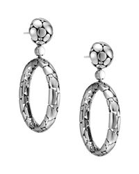 John Hardy | Metallic Kali Silver Oval-drop Earrings | Lyst