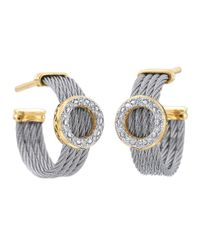 Alor | Gray Diamond Circle-Station Cable-Hoop Earrings | Lyst