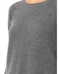 Velvet By Graham & Spencer - Gray Alba Waffle-Knit Cashmere Sweater - Lyst