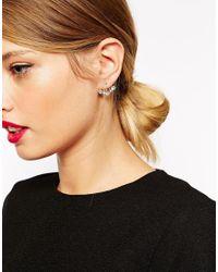 ASOS | Metallic Multi Jewel Swing Earrings | Lyst