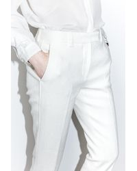 3.1 Phillip Lim White Slimming Capri Pant With Side Slits At Leg Opening