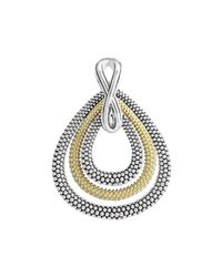 Lagos | Metallic Soiree Caviar Layered Teardrop Enhancer Pendant | Lyst