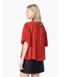 Mango - Red Flowy Blouse - Lyst