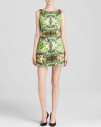 Alice + Olivia | Green Dress - Carrie Mirrored Garden | Lyst