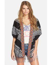 Rip Curl Black 'gypsy Road' Kimono