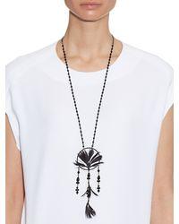 Valentino - Black Dream Catcher Necklace - Lyst