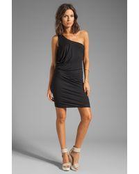 Velvet By Graham & Spencer - Nadalia New Fine Slinky Dress in Black - Lyst