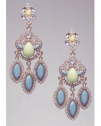 Bebe - Blue Neon Triple Drop Earrings - Lyst