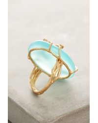 Indulgems | Green Ivied Looking Glass Ring | Lyst