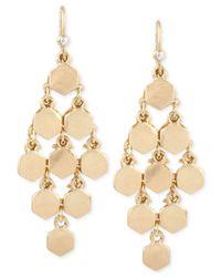 Kenneth Cole | Metallic Gold-tone Bolt Chandelier Earrings | Lyst
