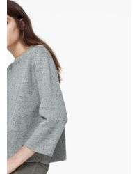 Mango | Gray Flecked Sweater | Lyst