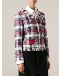 MSGM - Embroidered Patch Jacket - Lyst