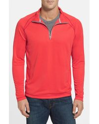 Tommy Bahama | Pink 'firewall - Paradise Tech Collection' Moisture Wicking Raglan Half Zip Sweatshirt for Men | Lyst