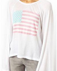 Wildfox | White Pastel America Sweat | Lyst