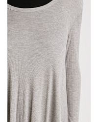 Forever 21 | Gray Oversized Ribbed Top | Lyst