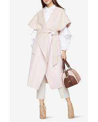 BCBGMAXAZRIA | Pink Nadia Wrap Coat | Lyst