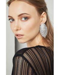 BCBGMAXAZRIA - Black Stone Earrings - Lyst