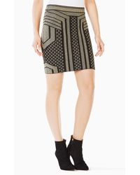BCBGMAXAZRIA   Black Josa Metallic Pencil Skirt   Lyst