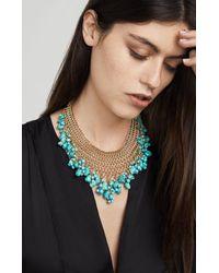 BCBGMAXAZRIA - Blue Natural Stone Necklace - Lyst