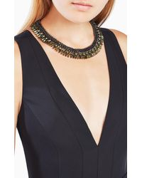 BCBGMAXAZRIA - Black Corded Stone Necklace - Lyst